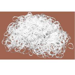 Pct Elastico Silicone Incolor Fino (1000 pçs) - O1642