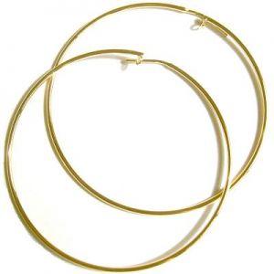 Argola Dourada Grande - B762